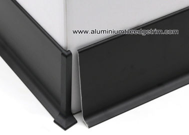 negro modular Coved de aluminio/pared de Matt que bordea con la altura del 10cm